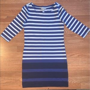BR Blue Multi Stripe Knit Dress